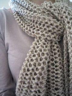 967 meilleures images du tableau echarpe tricot   Knit stitches ... 88185b5df92