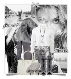"""""""Flawless Winter"""" by tina-abbara ❤ liked on Polyvore featuring rag & bone, Christopher Kane, Devon Leigh, Prada, Gucci and Fendi"""