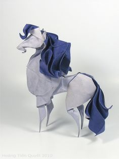 "#Origami artist Hoang Tien Quyet creates charming animals with the unique ""wet folding"" technique. #art #paper #sculpture"