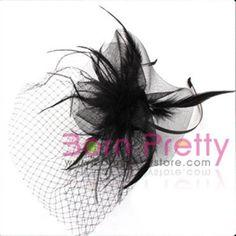 $2.49 Red Lady Dots Fascinator Bowknot Lace Mini Top Hat Cap Hair Clip - BornPrettyStore.com