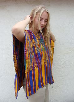 Guatemalan Huipil Vintage Hand Woven Blouse by EthnicClothing