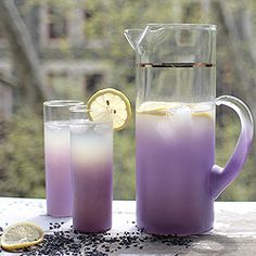 What could be better in these gorgeous vintage glasses than lavender lemonade?