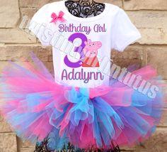 Peppa Pig Birthday Party Ideas | Peppa Pig Birthday Outfit | Peppa Pig Birthday Shirt | Peppa Pig Family Shirts | Birthday Party Ideas for Girls | Twistin Twirlin Tutus #birthdaypartyideas #peppapigbirthday http://www.twistintwirlintutus.com/products/peppa-pig-birthday-outfit-1