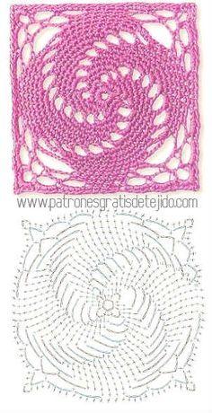 granny lace crochet square motif pattern