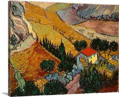 Van Gogh Landscape with House and Ploughman, 1889 (oil on canvas) 		 		 			Item #BAL385504 			By: Vincent Van Gogh