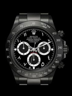 For the out of this world rollers, Brevet+ offers customized Rolex watches. Its watches are often coated Stylish Watches, Luxury Watches, Cool Watches, Rolex Watches, Watches For Men, Rolex 116520, Rolex Daytona Watch, Rolex Cosmograph Daytona, Rolex Daytona Stainless Steel