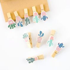 Decorate your notebook or planner with these cute Cactus Wooden Pegs. Use the rope included in the package to display your photos or memos around your desk. | Shop now at Kawaii Pen Shop | FREE international shipping! Cactus Craft, Digital Paper Free, Bible Crafts For Kids, Crafts For Teens To Make, Pen Shop, School Accessories, Desk Organization Diy, Kawaii Pens, Cute School Supplies