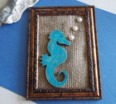 Seahorse Framed Home Decor by MumkenzGiftShop on Etsy