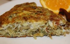 Hashbrown and Bacon Frittata - A frittata made with hashbrowns and bacon is fast and easy comfort food