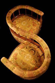 Tete a Tete Chair late 1800's