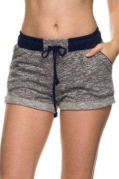 Heather Navy Shorts