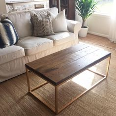 """Natalie C. on Instagram: """"Our coffee table got a glamorous facelift this week... And I am just in love with these new @ikeausa lofallet beige slipcovers! They really stepped their game up! """""""