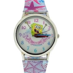 Spongebob Squarepants Childrens Analogue Metal Bezel Star Fish PU Strap SB41 @ niftywarehouse.com #NiftyWarehouse #Spongebob #SpongebobSquarepants #Cartoon #TV #Show