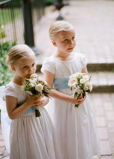 flowers, peony, ranunculus, rose, flower girl dresses, light blue, romantic , white, Spring, classic