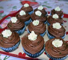 Chocolate Hint O' Mint Cupcakes.  Vegan.  By Cakeability.