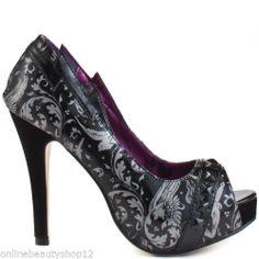 Iron Fist Mean Streak Peep TOE Platform High Heel Shoes Black | eBay