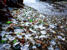 Beach Glass in CA. Photo by Travis Burke