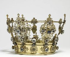 jeannepompadour:  Swedish wedding crown from the 18th century