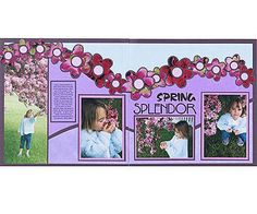 Design by Vivian Smith To create a floral accent for her flower-theme layout, Vivian die-cut a floral border from coordinating flower photos. The colors of the flowers combined with the colored cardstock and main photos add subtle contrast to the scrapbook page. For extra impact, Vivian matted each flower die cut and adhered two cardstock circles to each center.  SOURCES: Font: Sandra O off the Internet. Daisy die cuts: Sizzix. Stickers, flower photos: Art Warehouse for Creative…