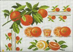 Gallery.ru / Фото #3 - Frutta e verdura a punto croce - Mosca