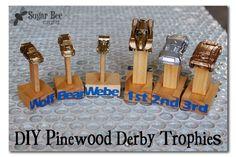 DIY Pinewood Derby Trophy Trophies