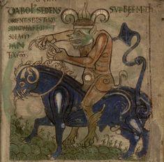 ( - p.mc.n.) A Medieval manuscript illumination of the Devil