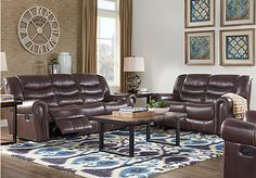 Sky Ridge Mahogany 3 Pc Leather Living Room. $2,175.00.  Find affordable Leather Living Rooms for your home that will complement the rest of your furniture.