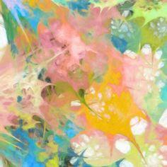 Abstract art on canvas. Artist ricki mountain. Publisher @Fine Art Express Hospitality Art