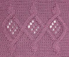 Linked Medallions can be found in the Cables & Twisted Stitches category.  Try placing three repeats on the back, middle of a cardigan as waist shaping, for a slight peplum effect.