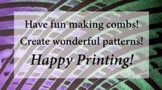 Gelli printing with diy combs. Gelli Arts - YouTube