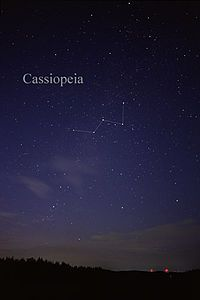Cassiopeia    Constellation that i have on my arm exact same as the movie Serendipity.