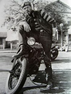 THE WILD ONE (1953) - Marlon Brando - Mary Murphy - Lee Marvin (pictured) as the outlaw biker, 'Animal' - Columbia Pictures - Publicity Still.