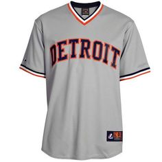 89b56883d MLB Detroit Tigers Gray Road Cooperstown Cool Base Team Jersey