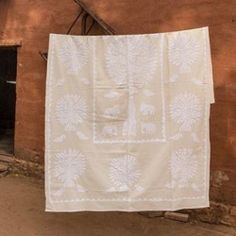The Emeka Blanket ✨ entirely hand-stitched in India • abacastore.com (at Jodhpur, Rajasthan)