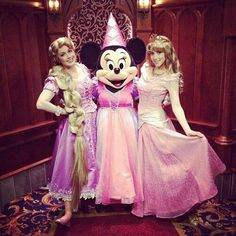 Rapunzel and Minnie mouse and aura Disney Nerd, Disney Girls, Disney Love, Disney Magic, Walt Disney World, Disney Pixar, Disney Fairies, Im A Princess, Princess Aurora
