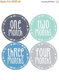 ❘❘❙❙❚❚ ON SALE ❚❚❙❙❘❘     Baby month stickers are a great way to track your baby's growth through the first year. These monthly milestone stickers