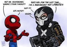 Spiderman and Crossbone from Captain America (2016) by Lord_Mesa