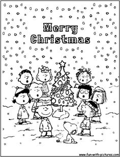 peanuts christmas coloring page of peanuts christmas