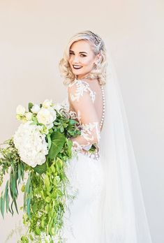 Beaded lace patterns adorn this wedding dress with fitted silhouette. Couture Wedding Gowns, Designer Wedding Gowns, Dream Wedding Dresses, Free Wedding, Wedding Day, Special Dresses, Lace Patterns, Beaded Lace, Bridal Style