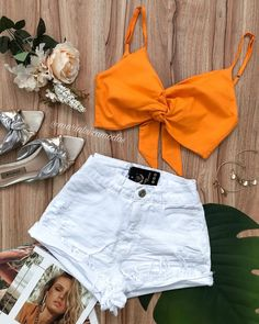 Crop Top Outfits, Chill Outfits, Cute Casual Outfits, Cute Summer Outfits, Look Con Short, Pink Fashion, Womens Fashion, Korean Outfits, Hot Pants