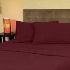 Cozy Fleece Queen Sheet Set - Burgundy Sheet Sets, Burgundy, Cozy, Queen, Bed, Furniture, Home Decor, Decoration Home, Stream Bed