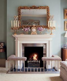 Камин в гостиной, дизайнер Джейн Черчилль, Лондон