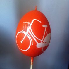 Holland orange bicycle Easter egg for my friend Sandra