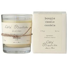 Cote Bastide Orange Blossom Candle - Hand-poured. Perfume base is from Grasse, France, the perfume capital of the world.  A true scent match.
