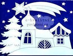 Výsledek obrázku pro vánoční papírová výzdoba do oken