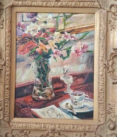 oil painting, original antique frame, unknown artist