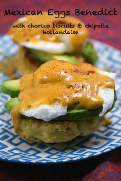 Mexican Eggs Benedict with Chorizo Biscuits and Chipotle Hollandaise .psd