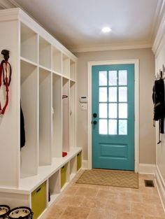 Turquoise Door inside AND out. Classic Coastal Colonial Renovation - the Anti McMansion