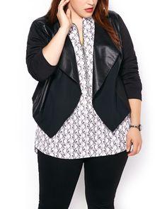 Knit jacket with Fau