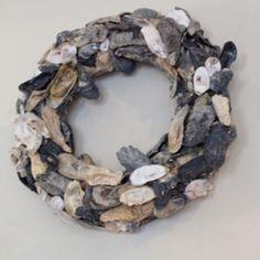 Oyster shell wreath! by yolanda